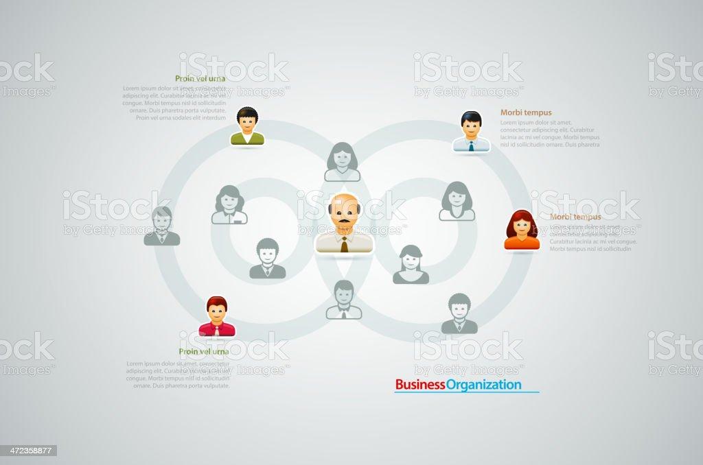 Business Organization. vector art illustration