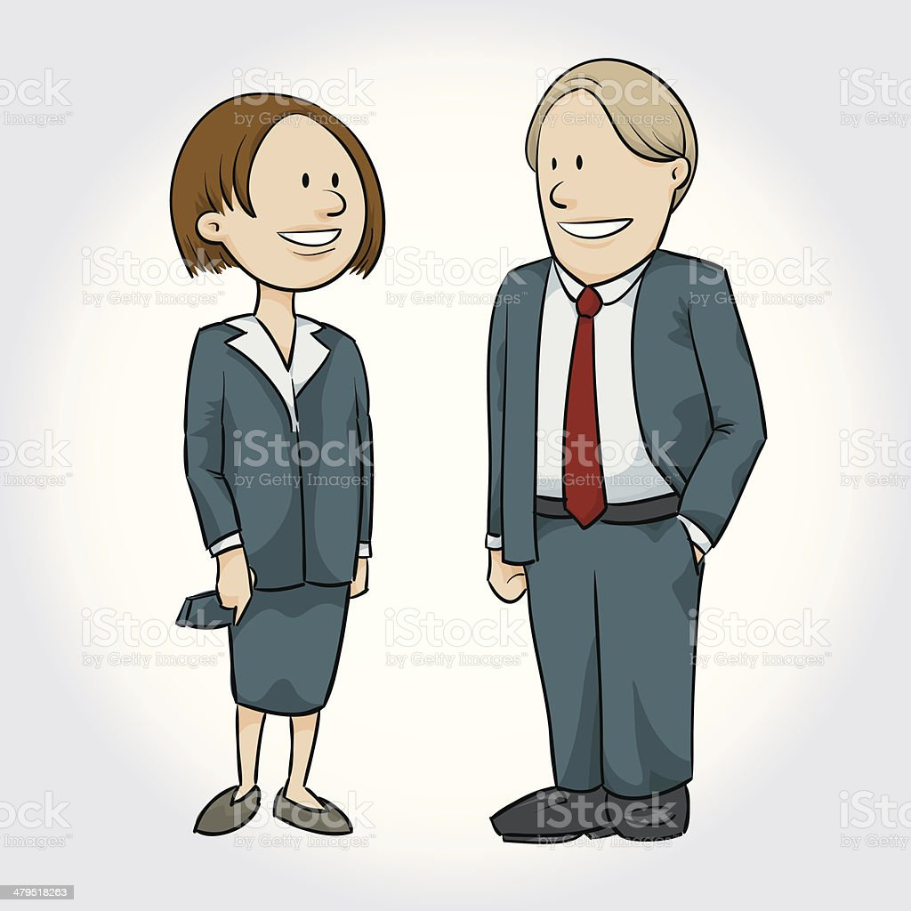 Business Pair royalty-free stock vector art