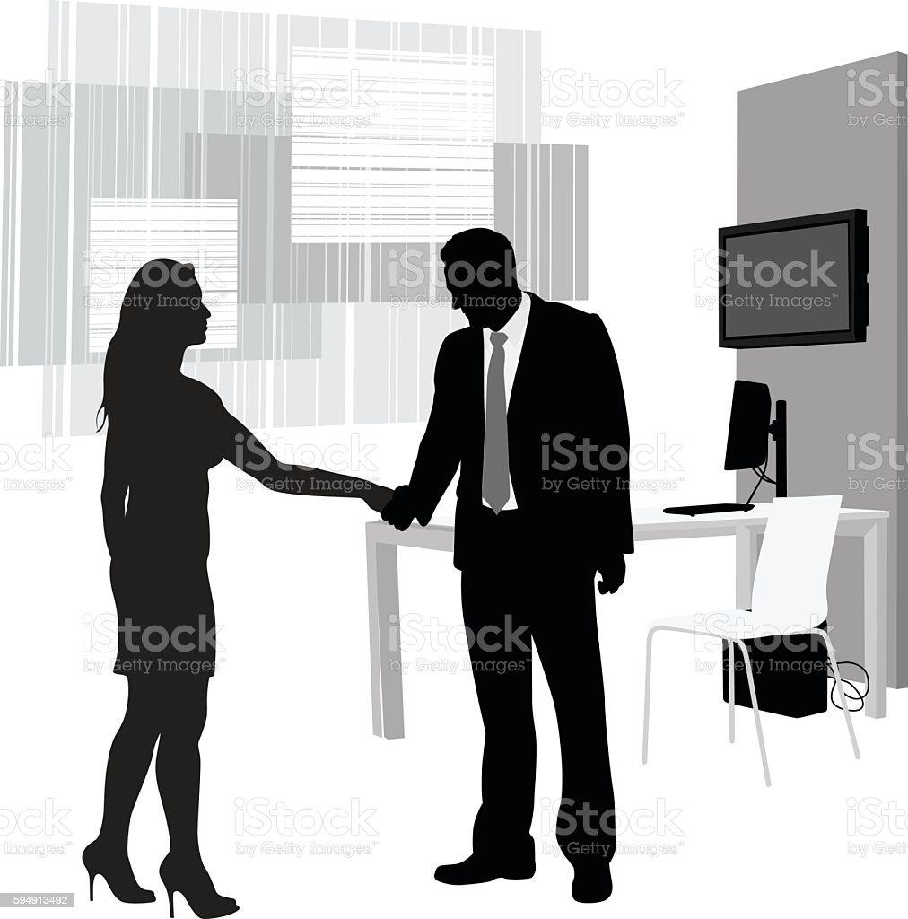 Business Partner Reunion vector art illustration