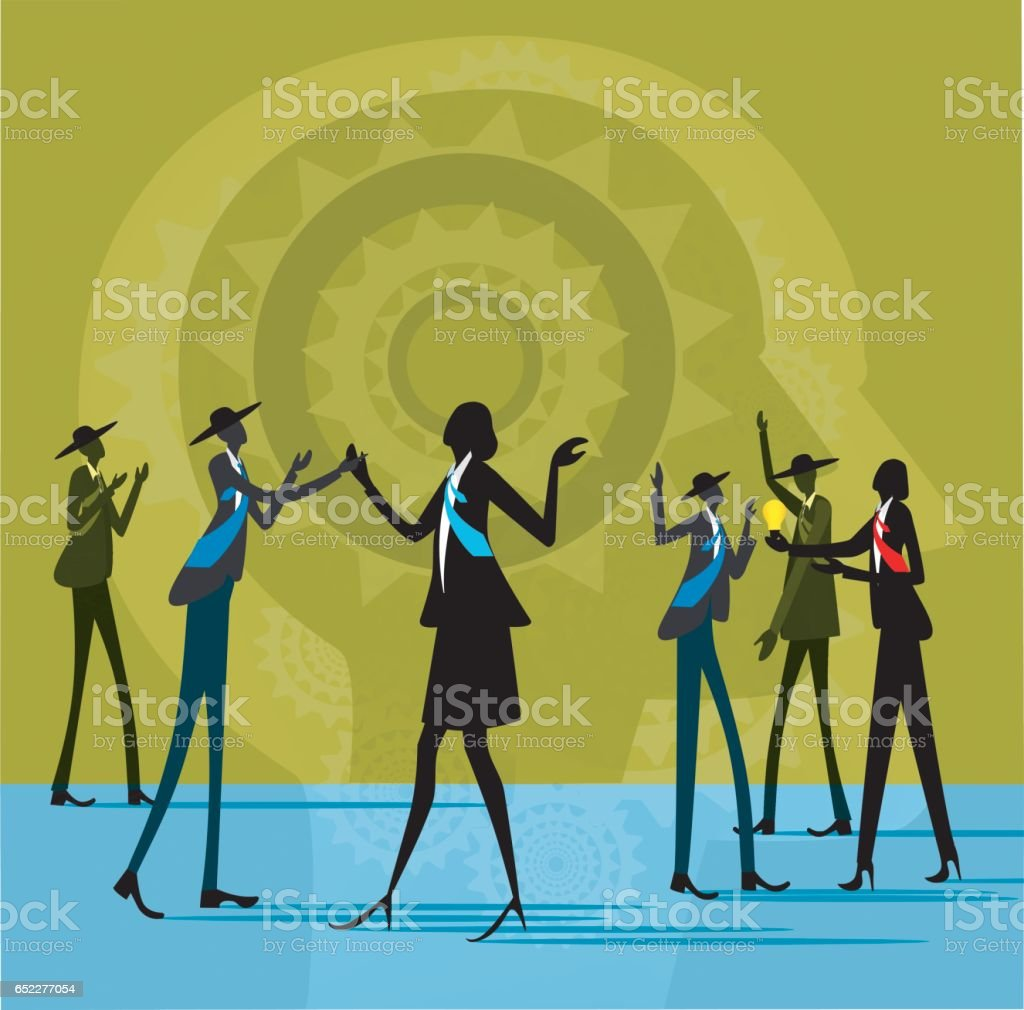business party , vector art illustration