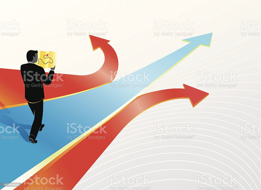 Business Path royalty-free stock vector art