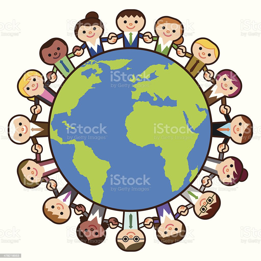 Business people around the world royalty-free stock vector art