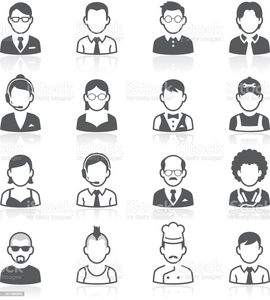 Business people avatar icons. Vector illustration vector art illustration