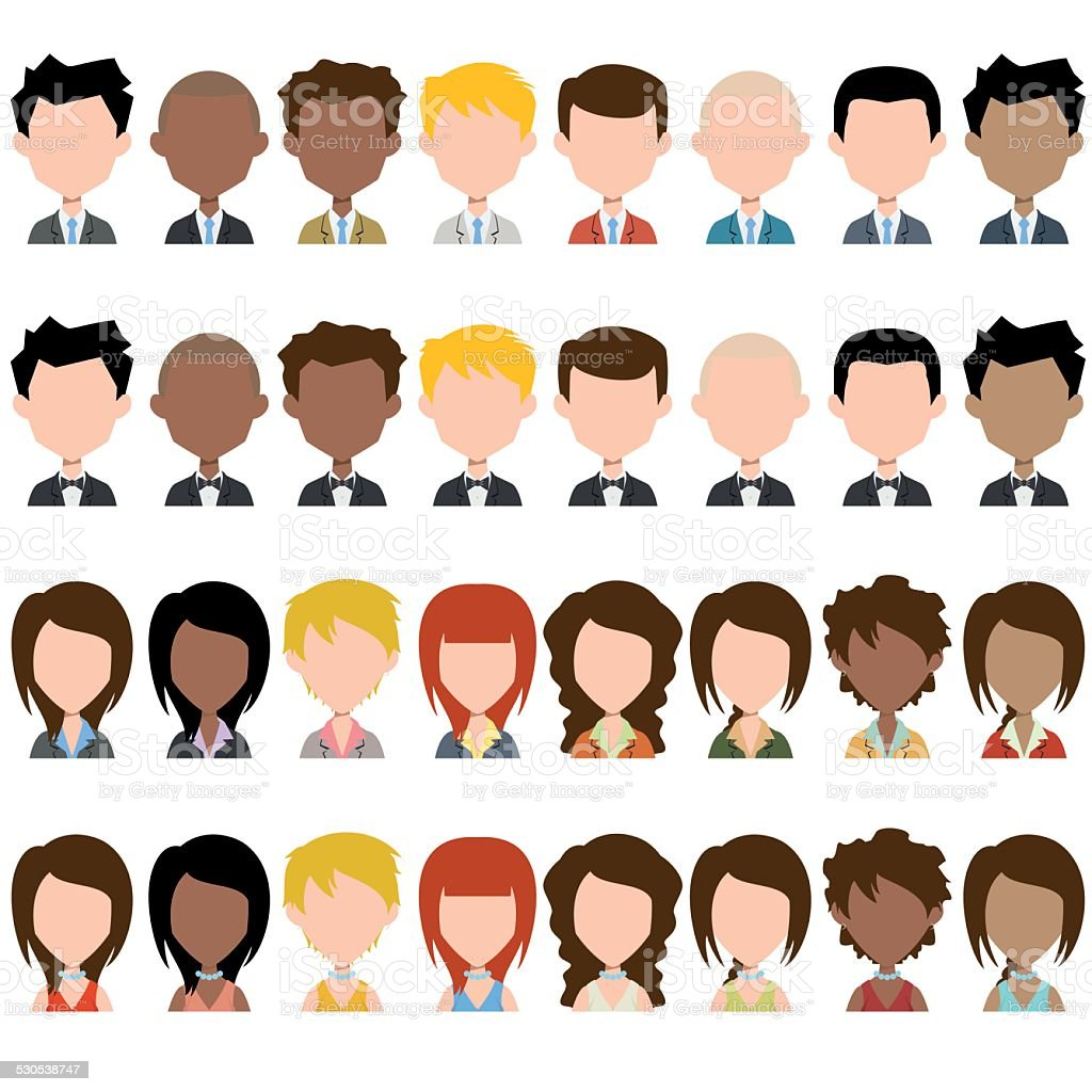 Business people avatar vector art illustration