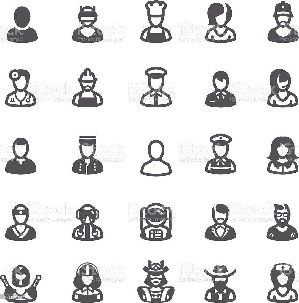 Business people avatars icons vector art illustration
