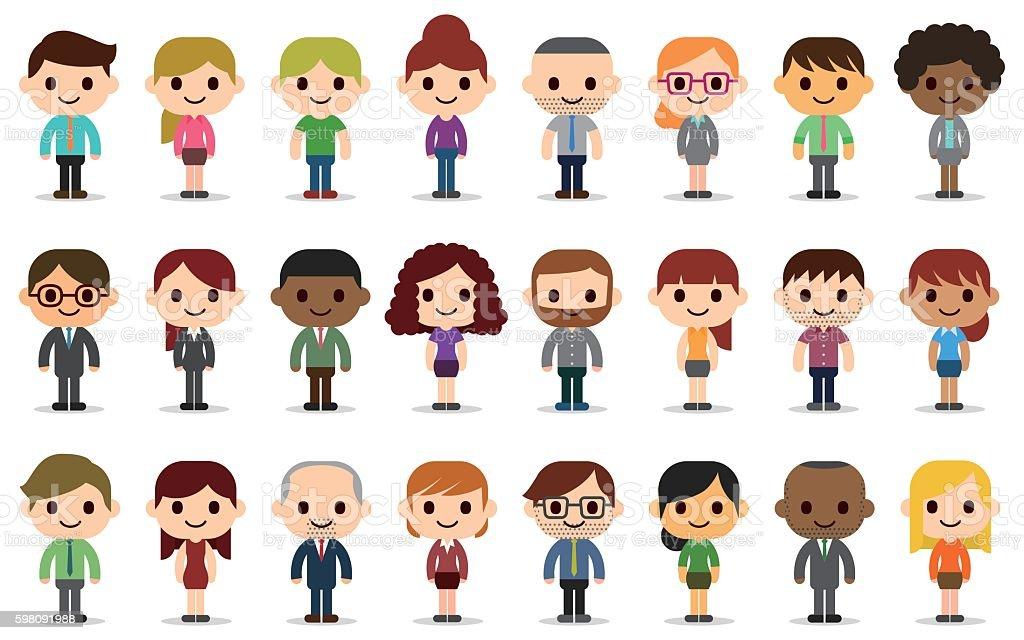 Business people avatars vector art illustration