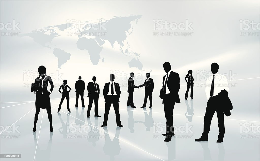 Business people background vector art illustration