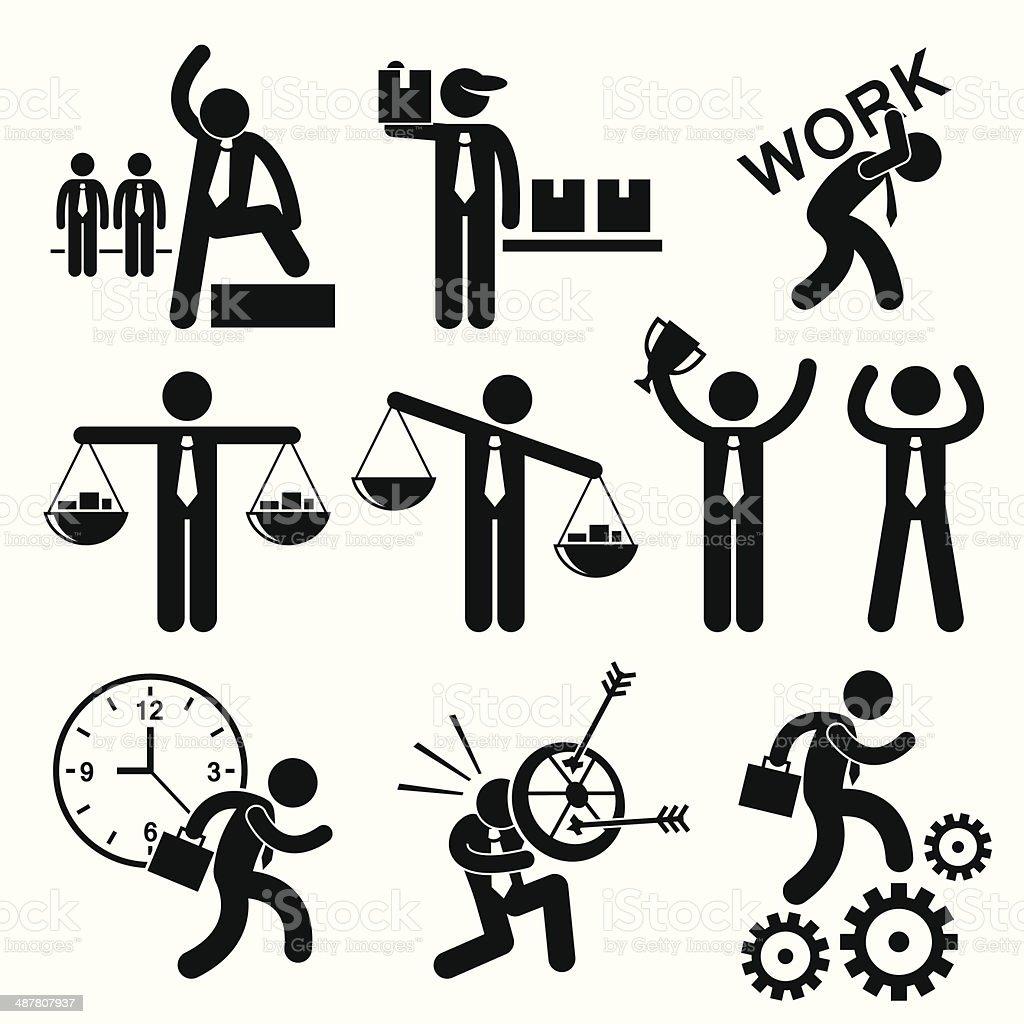 Business People Businessman Concept Cliparts vector art illustration