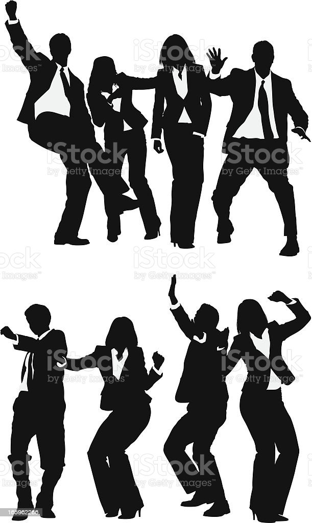 Business people celebrating their success royalty-free stock vector art