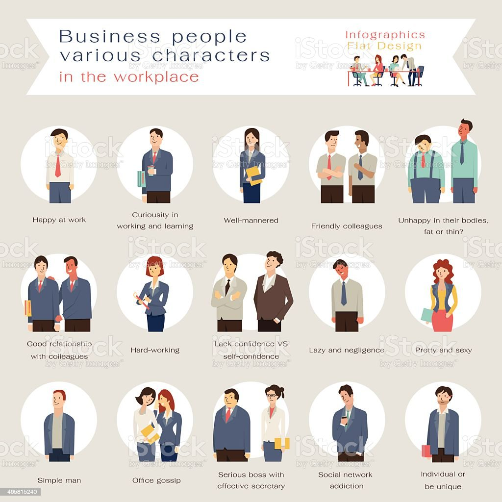Business people characters vector art illustration