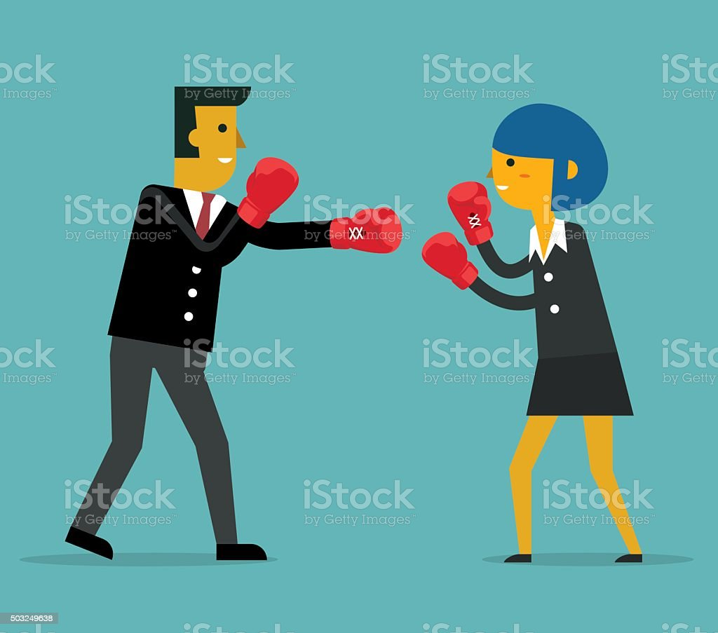 Business People Competition vector art illustration
