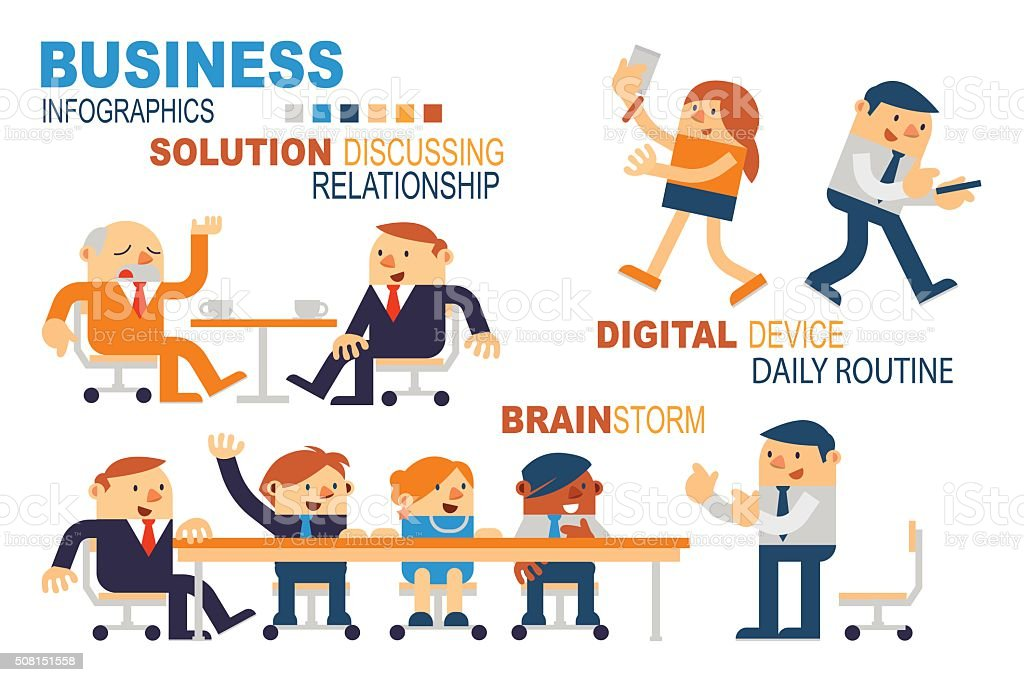 Business People Concepts. vector art illustration