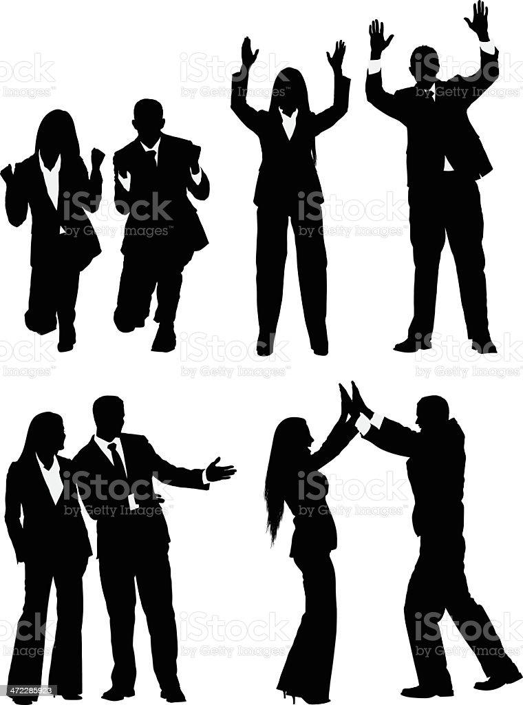 Business people gesturing royalty-free stock vector art