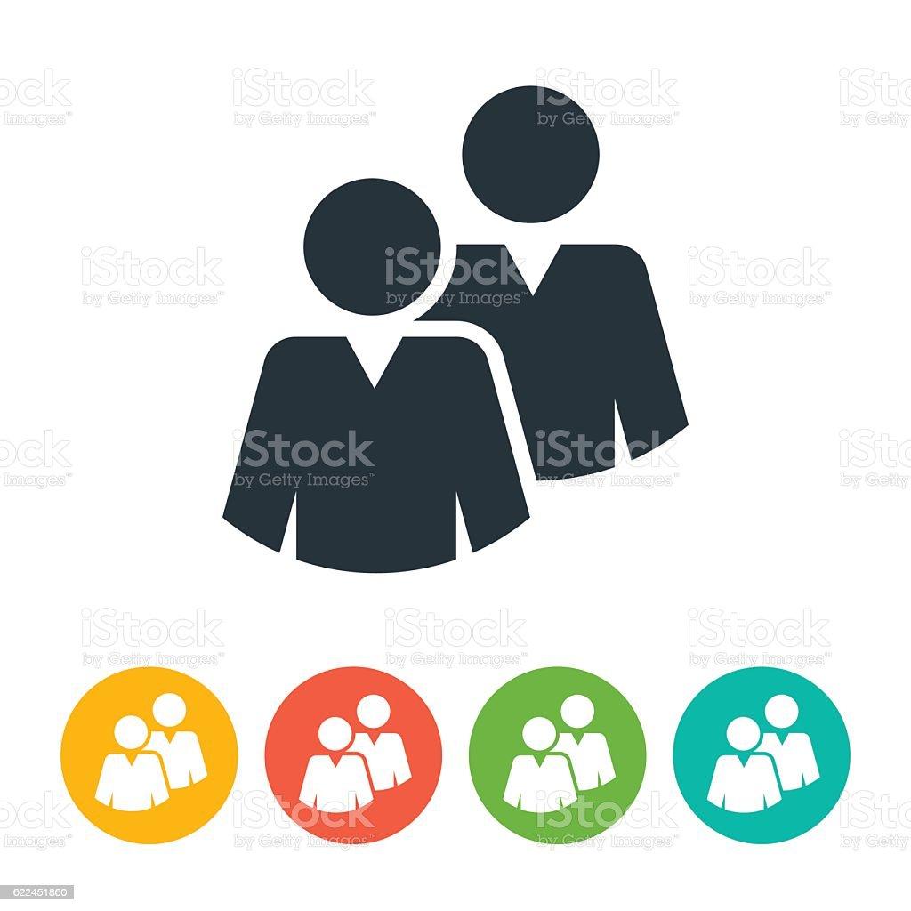 Business People Grop Team Icon Set vector art illustration