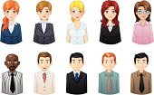 business people icons set 6