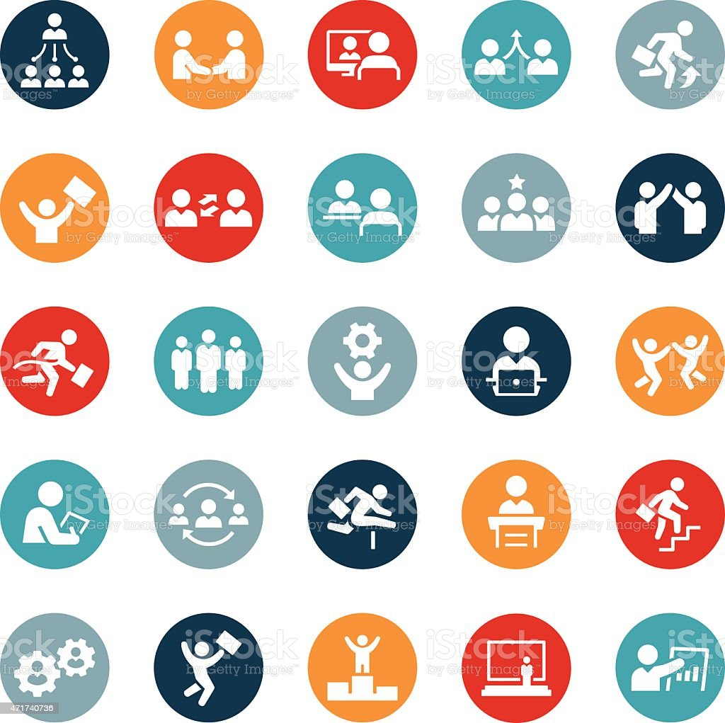 Business People Icons vector art illustration