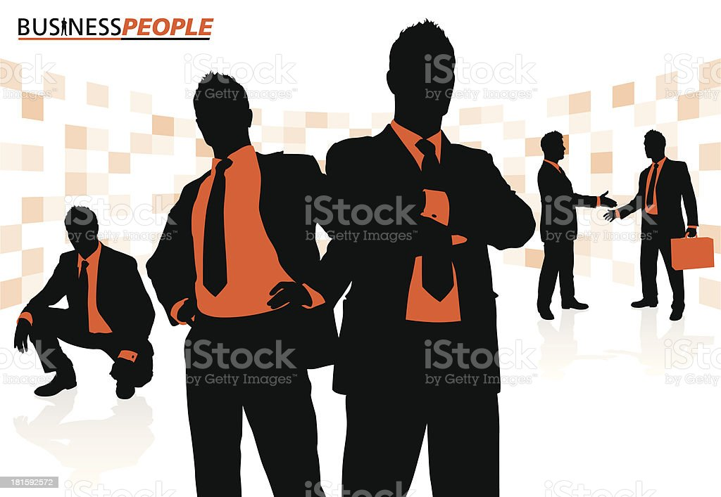 Business People in a Dynamic Pose royalty-free stock vector art