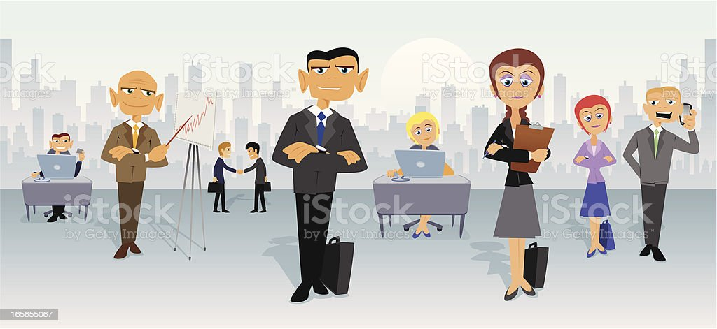 Business People in City royalty-free stock vector art