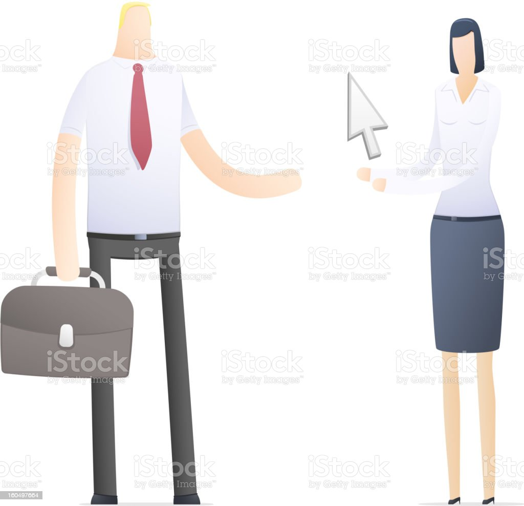 business people in different situations vector art illustration