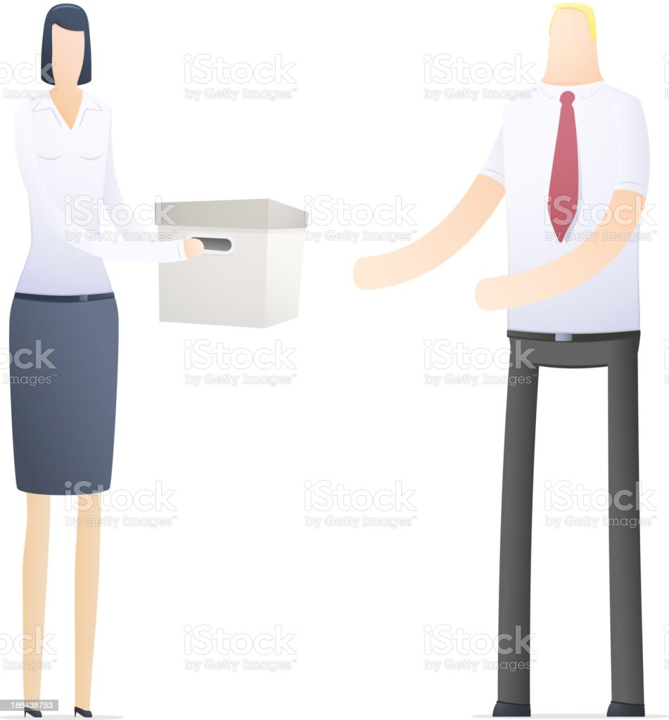 business people in different situations royalty-free stock vector art