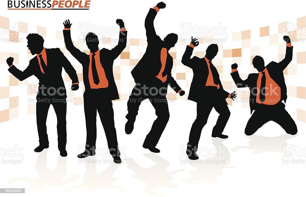 Business People in Successful Poses royalty-free stock vector art