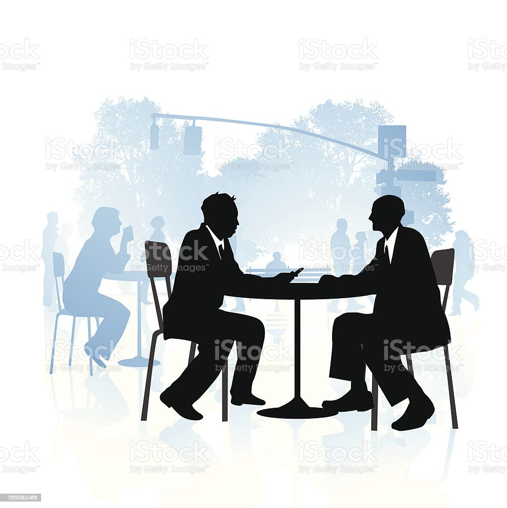 Business people in the park royalty-free stock vector art