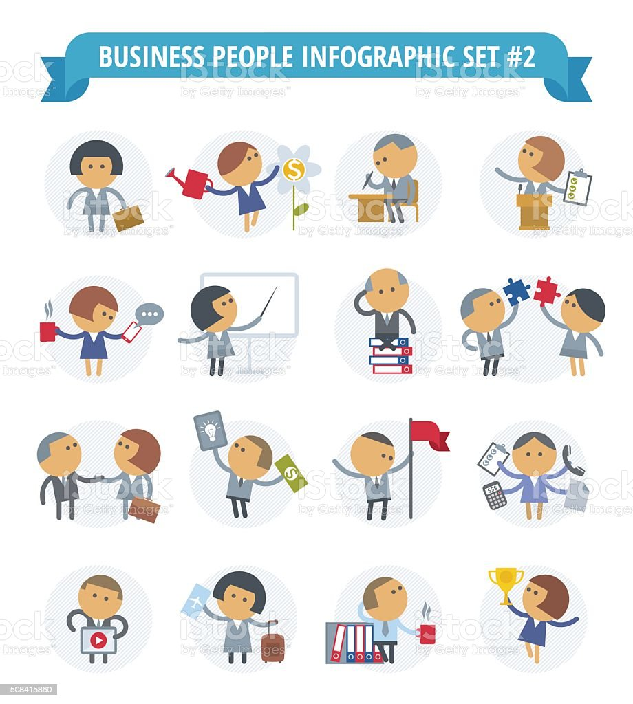 Business People Infographic Set 2 vector art illustration