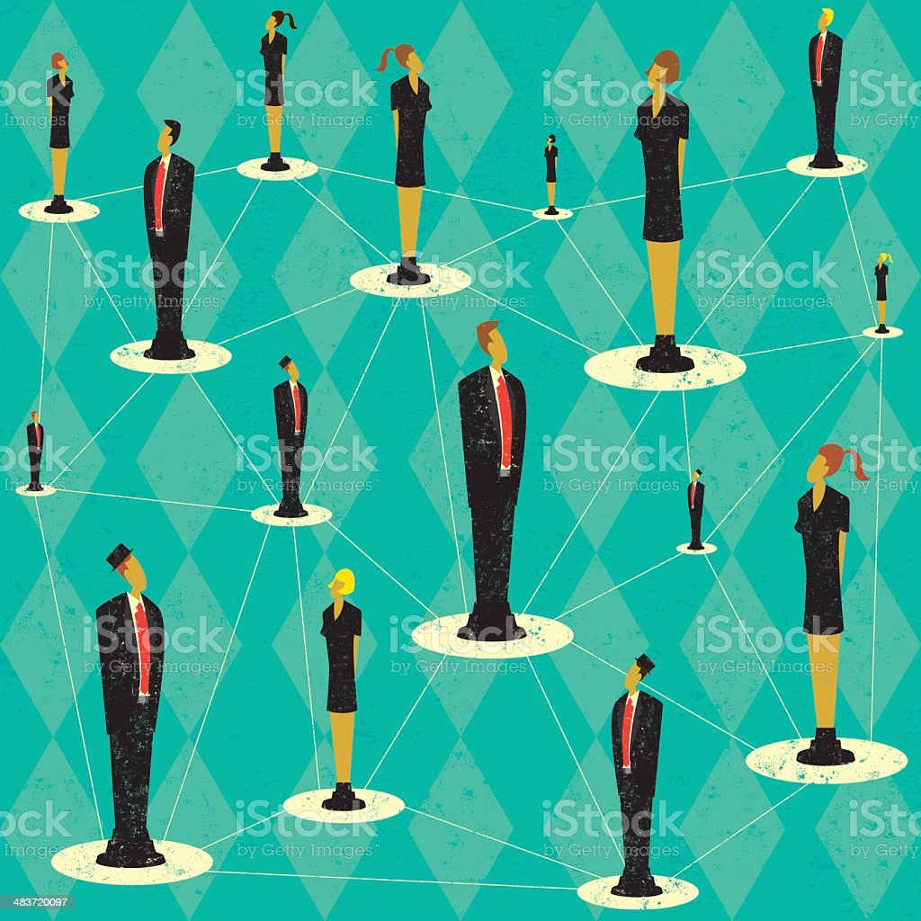 Business people network royalty-free stock vector art