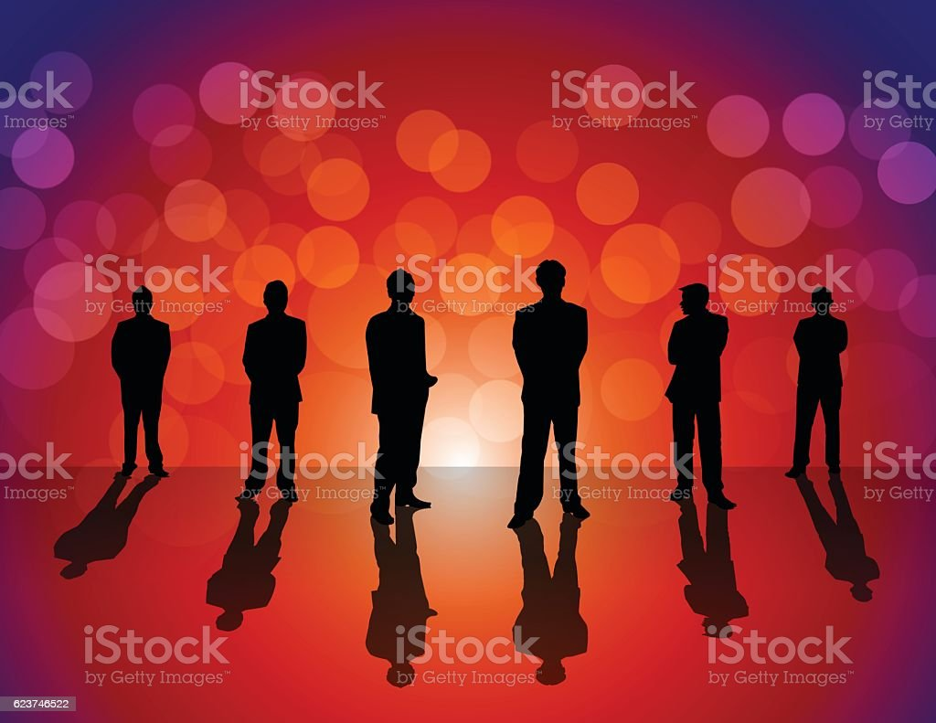 Business People on colorful background vector art illustration