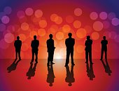 Business People on colorful background