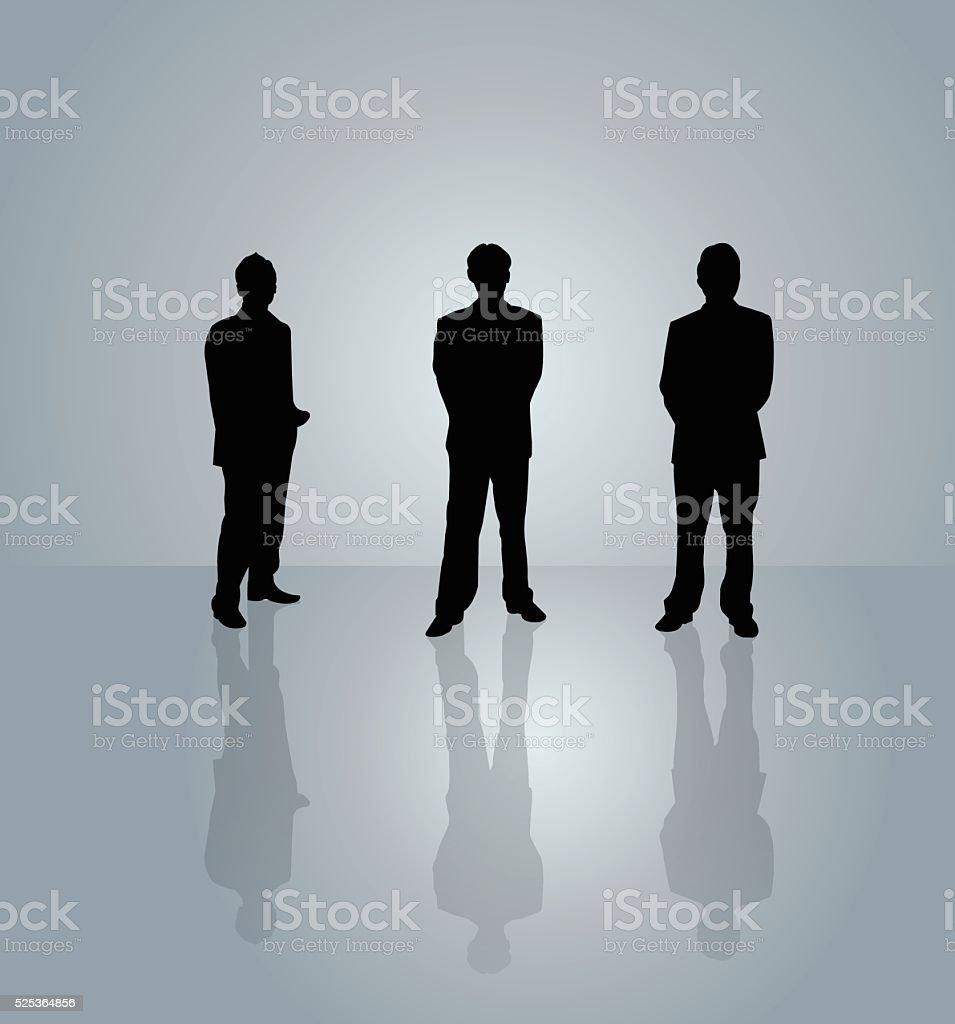 Business People on grey background vector art illustration