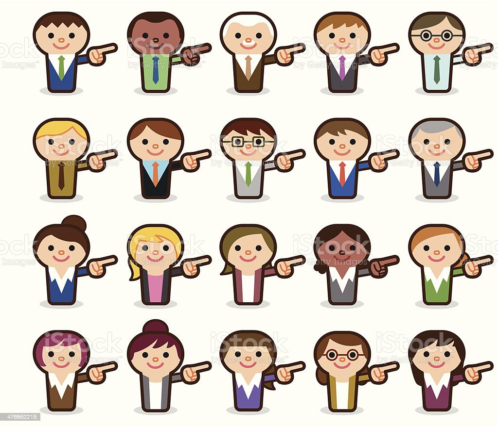 Business people pointing royalty-free stock vector art