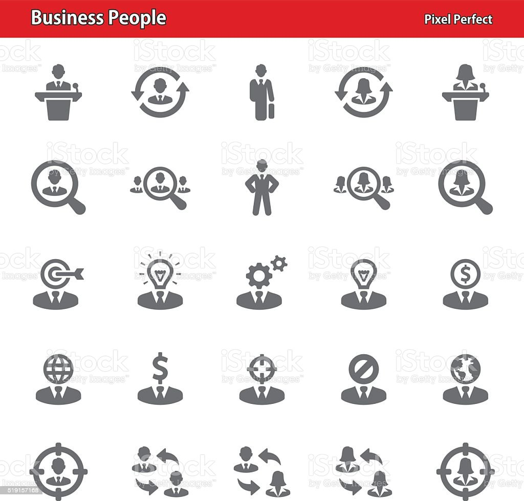 Business People - Set 2 vector art illustration