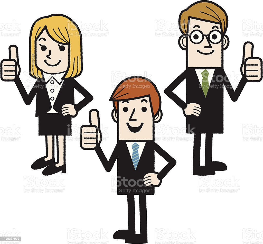 Business People Showing Thumbs Up royalty-free stock vector art
