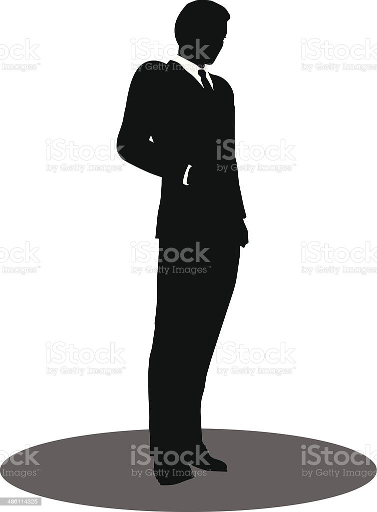 business people standing silhouette vector art illustration