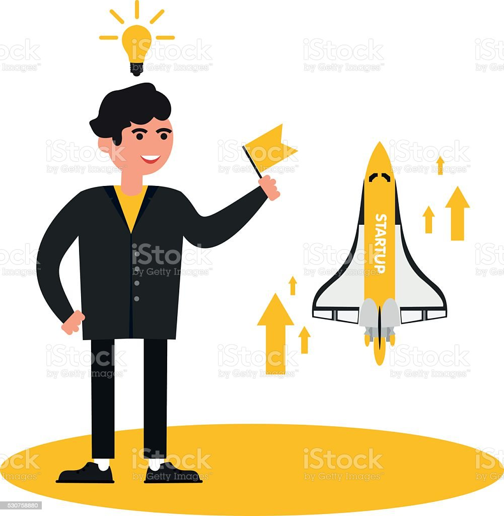 business people, startup vector art illustration
