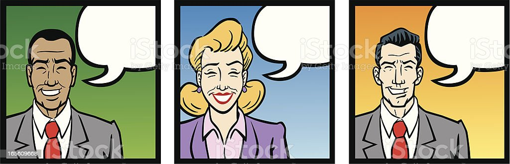 Business People Talking royalty-free stock vector art