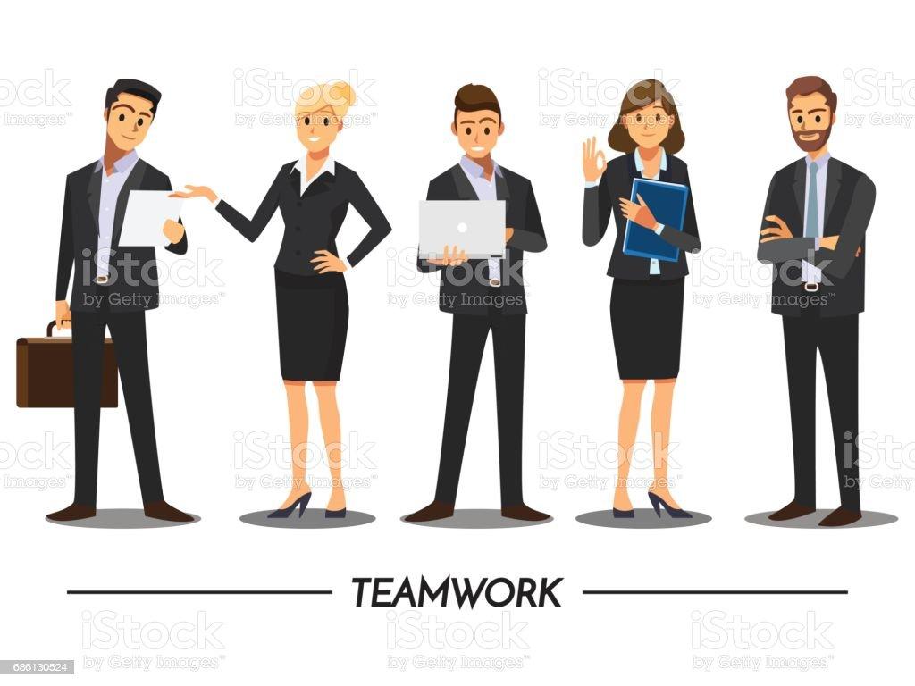 Business People teamwork ,Vector illustration cartoon character. vector art illustration