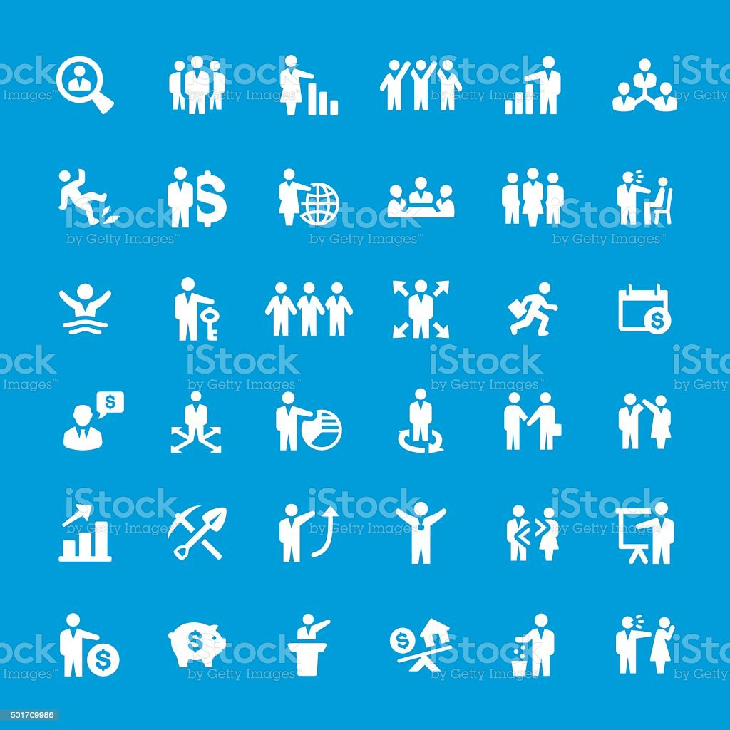 Business People vector icon set vector art illustration