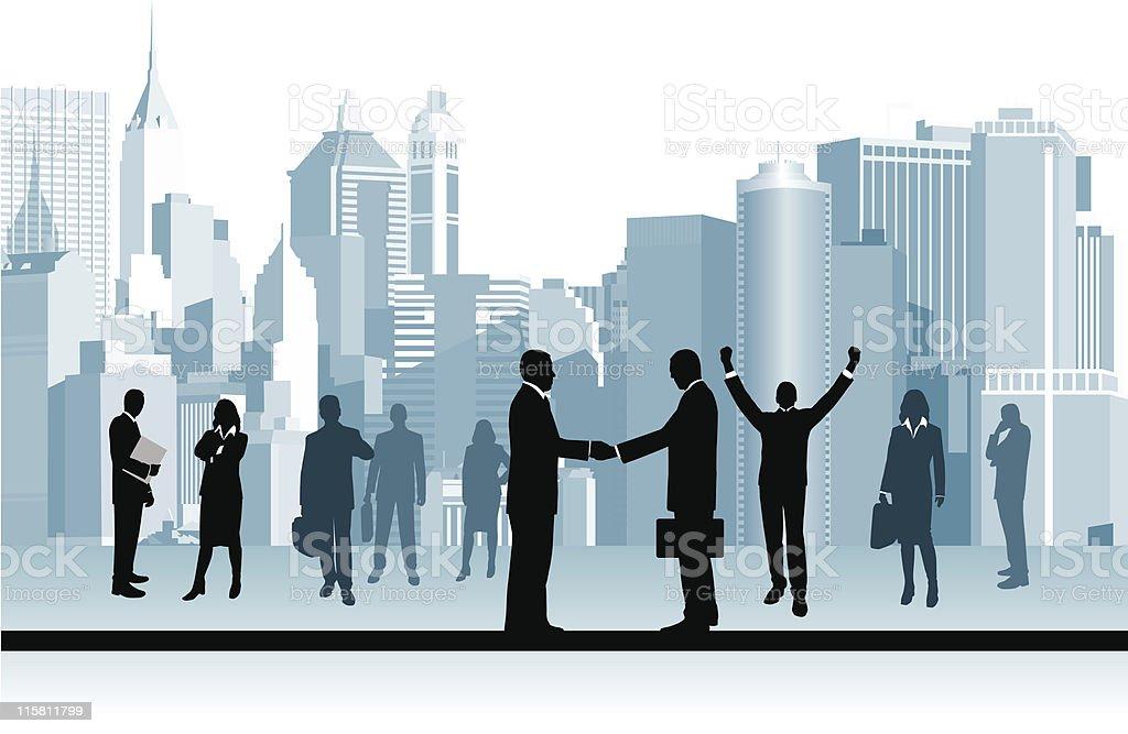 Business People. vector art illustration
