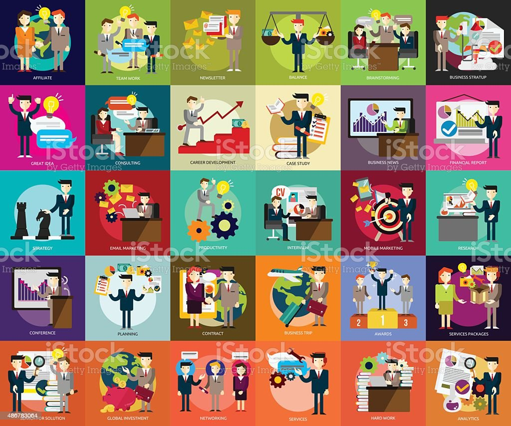 Business People vector art illustration
