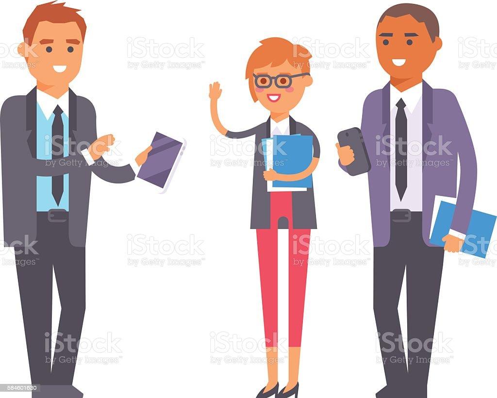 Business people vector vector art illustration