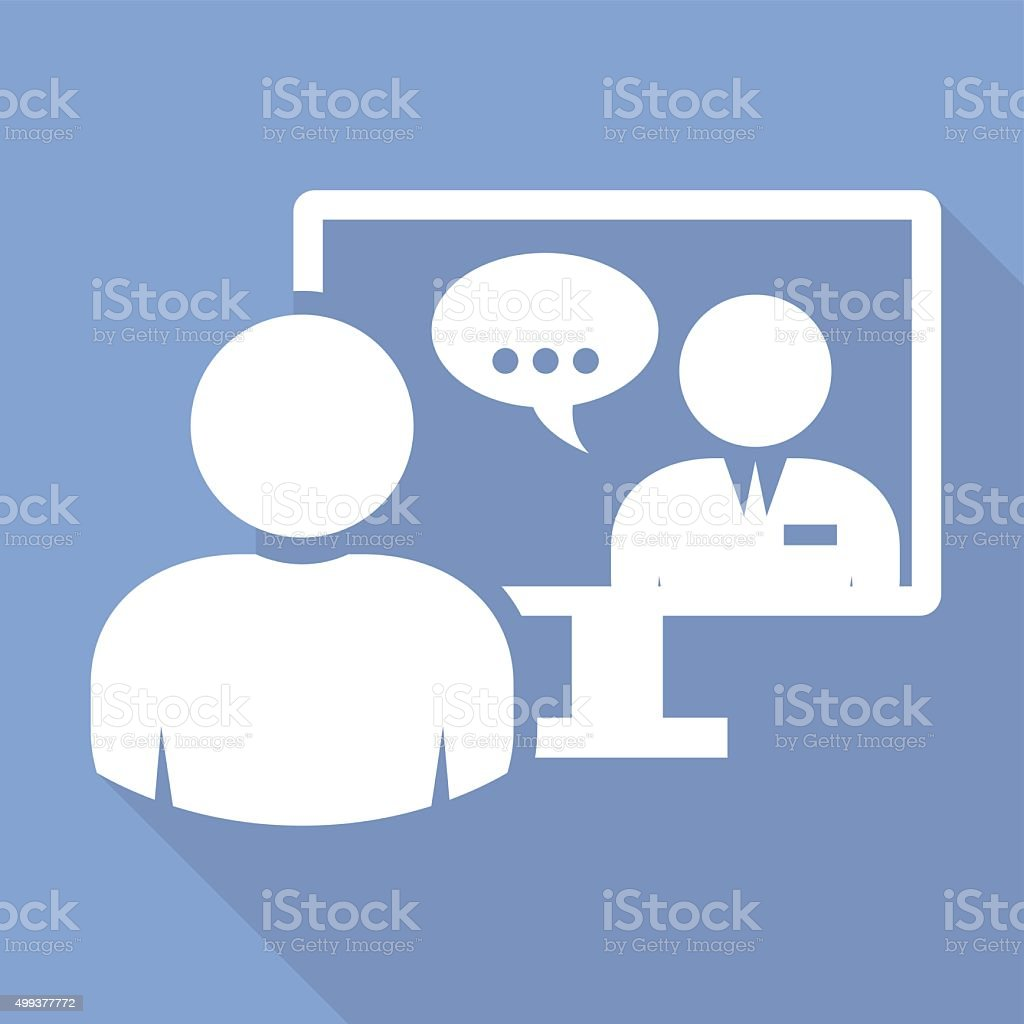 Business people - video conference call vector art illustration