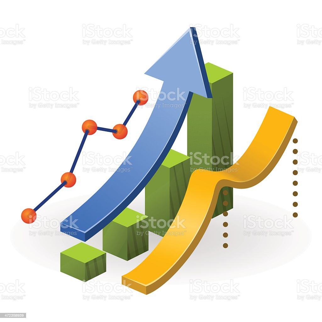 Business Performance Chart vector art illustration