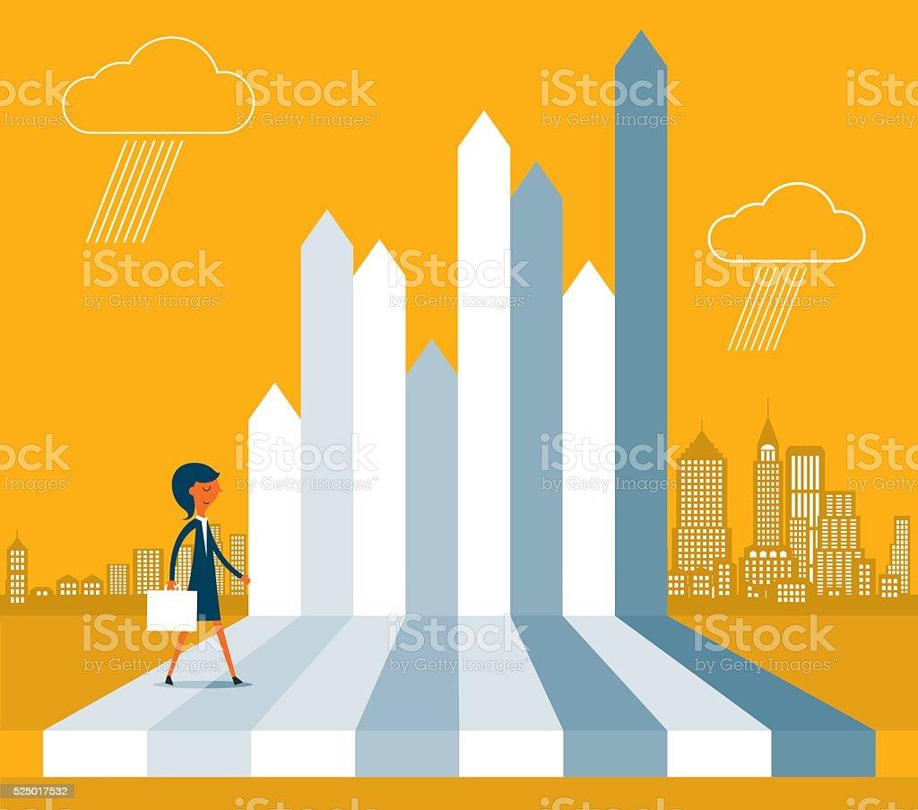 Business Performance vector art illustration