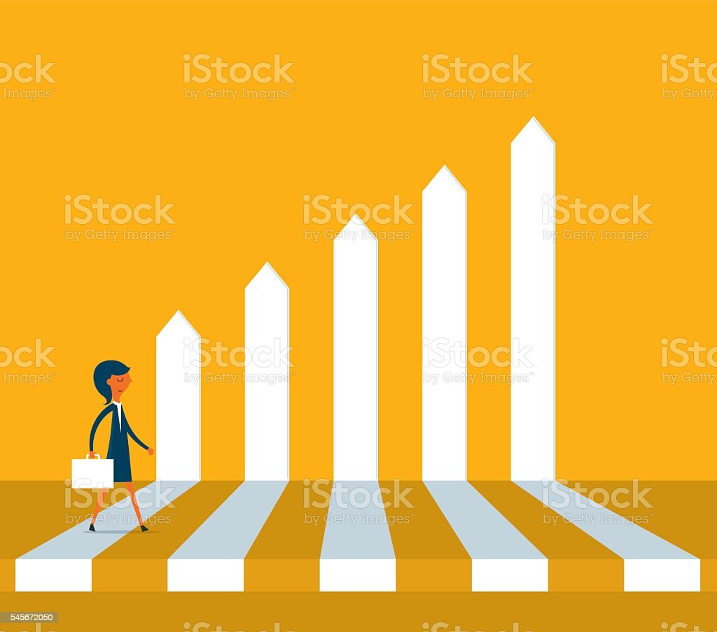 Business Performance vector art illustration