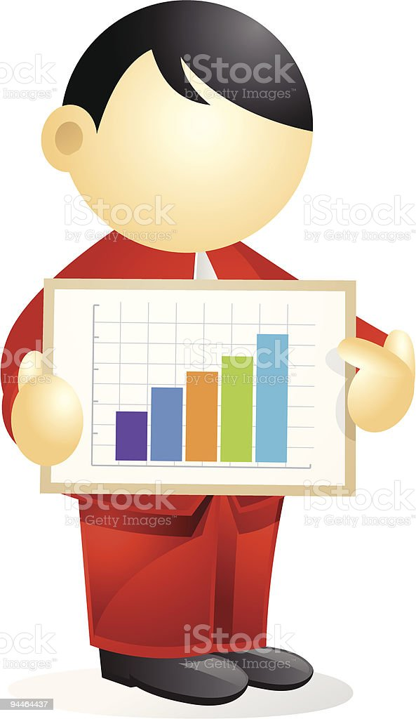 Business person - showing  a chart royalty-free stock vector art
