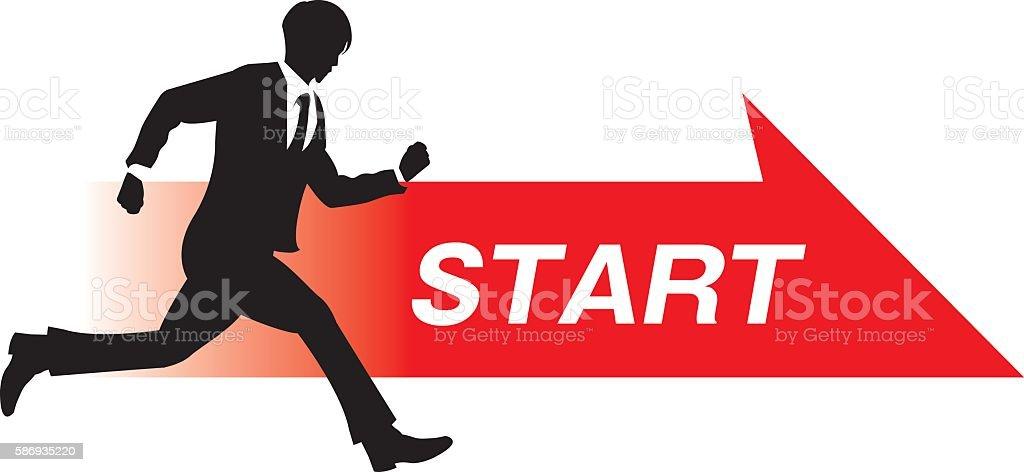 business person start vector art illustration