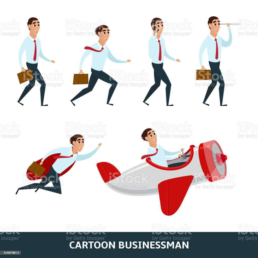 Business person walking to the success royalty-free stock vector art