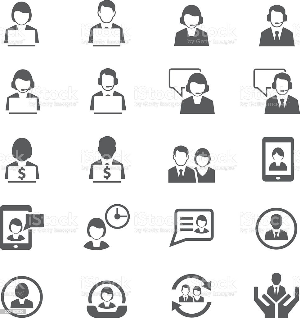 Business persons and user icon vector art illustration